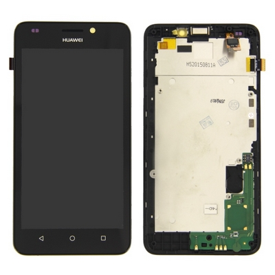 LCD TOUCH SCREEN VETRO E COVER FRAME COMPLETO NERO PER HUAWEI Y635